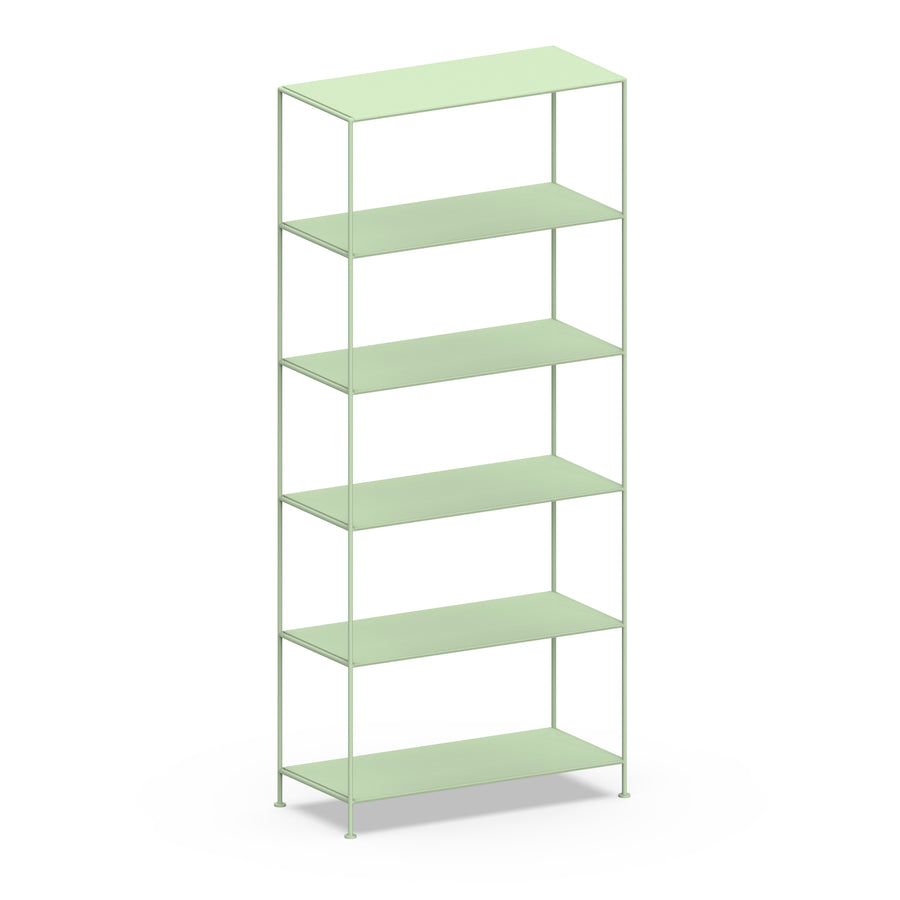 Stille Furniture Wide Shelves 6-tier in Mint color