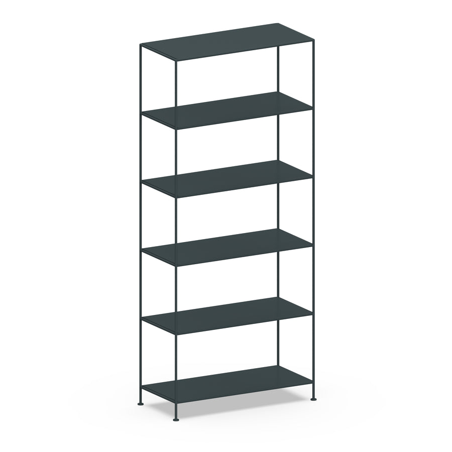 Stille Furniture Wide Shelves 6-tier in Slate color