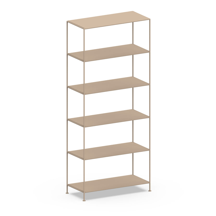Stille Furniture Wide Shelves 6-tier in Taupe color