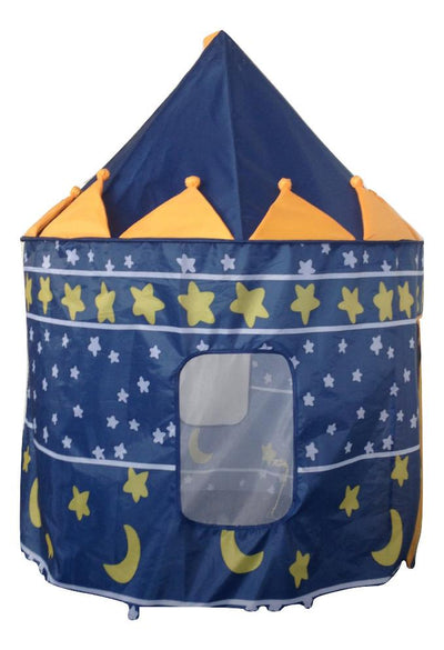 Blue Kid's Pop Up Castle Tent