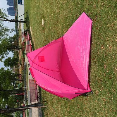 2 Person Colorful Pop Up Fishing Tent,Pink Beach tent for Girl, Sunshade Shelter tent
