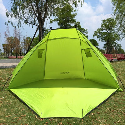 2 Person Green Pop Up Fishing Tent,Green Beach tent, Sunshade Shelter tent