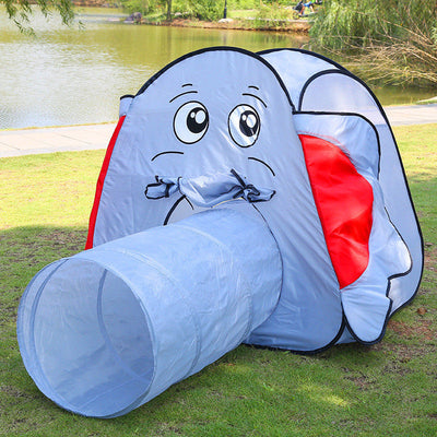 Kid's Run Through Elephant Play Tent Indoor/Outdoor