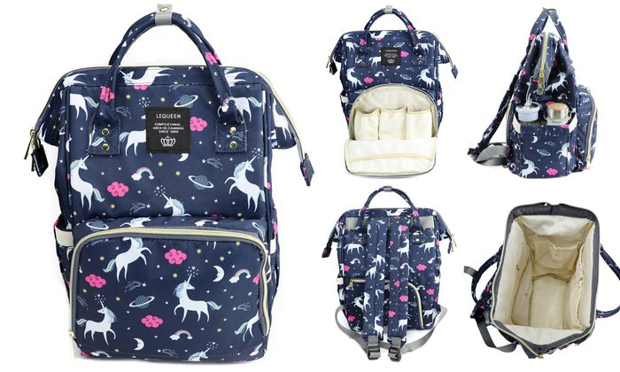 b194443e1e45 Unicorn Mommy and Baby Backpack