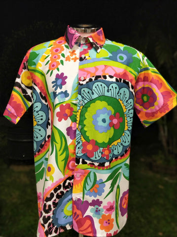 Vibrant Abstract Floral - XL
