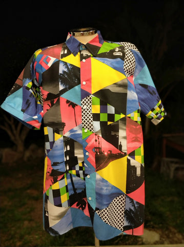 Bold and abstract festival shirt - XXXL