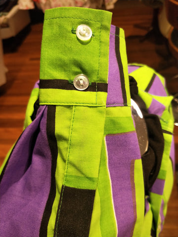 Lime Green & Purple Abstract - XS