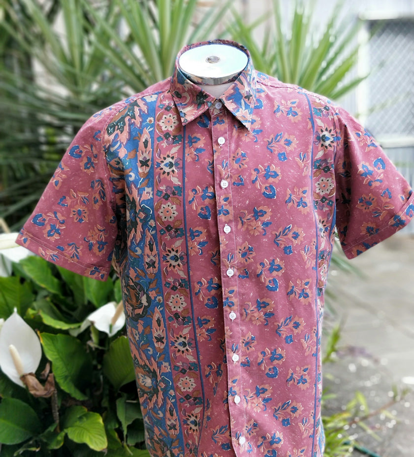 Rusty Teal Floral - XL