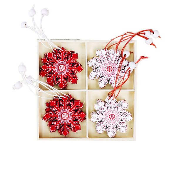 Nordic Snowflakes Decorations Set 12 - Kläder and Hem