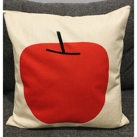 Scandi Red Apple Cushion Cover