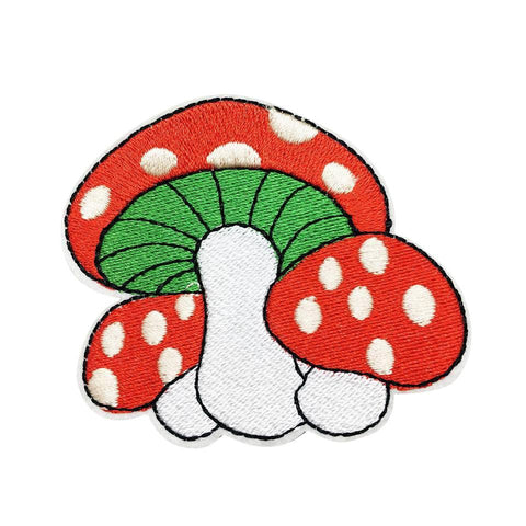 Trio of Toadstools Iron on Patch