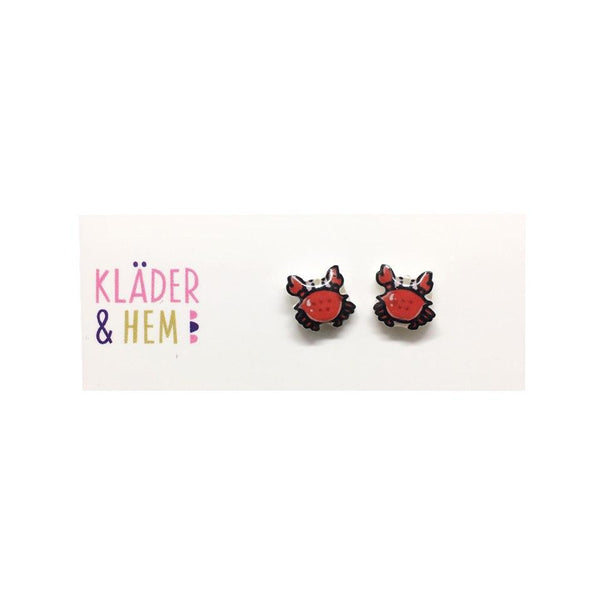 Have a Crab-u-lous Day Stud Earrings - Kläder and Hem