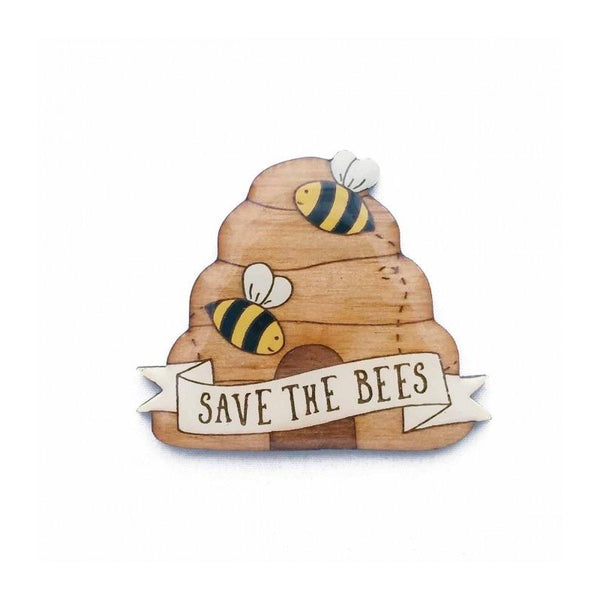 Save the Bees Eco Brooch - Kläder and Hem
