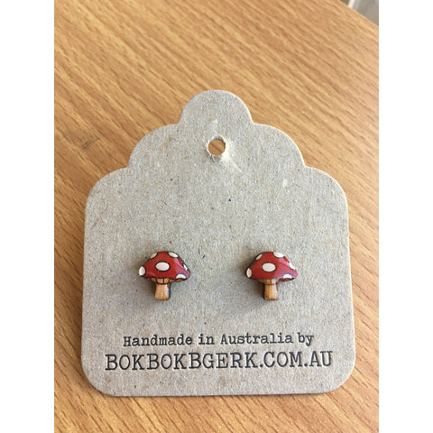Woodland Garden Toadstool Earrings