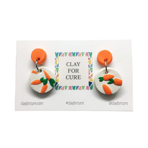 Carrots for Cancer Circle Earrings