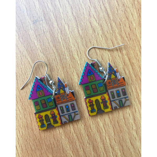 Amsterdam Canal House Earrings - Kläder and Hem