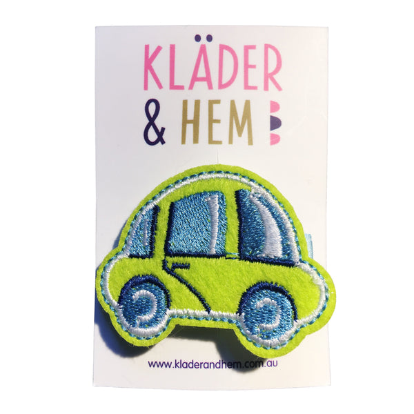 Green City Car Hair Clip - Kläder and Hem