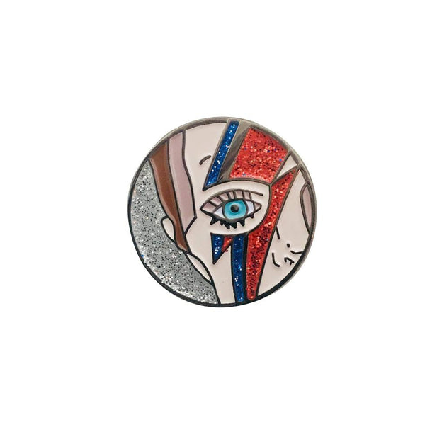 David Bowie Legend Enamel Pin - Kläder and Hem