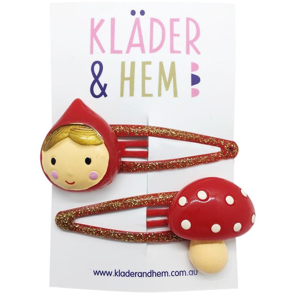 Swedish Red Riding Hood Hair Clips - Kläder and Hem