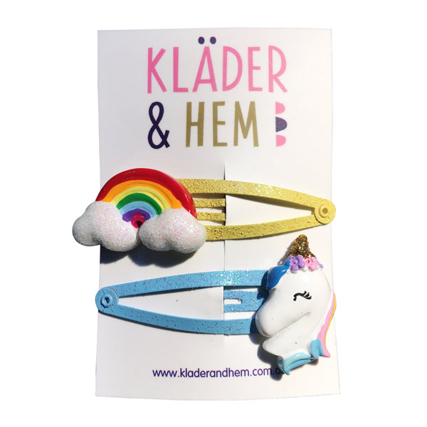 Unicorn & Rainbows Hair Clip - Kläder and Hem