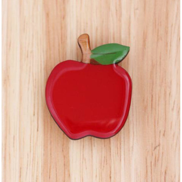 Woodland Red Apple Brooch - Kläder and Hem