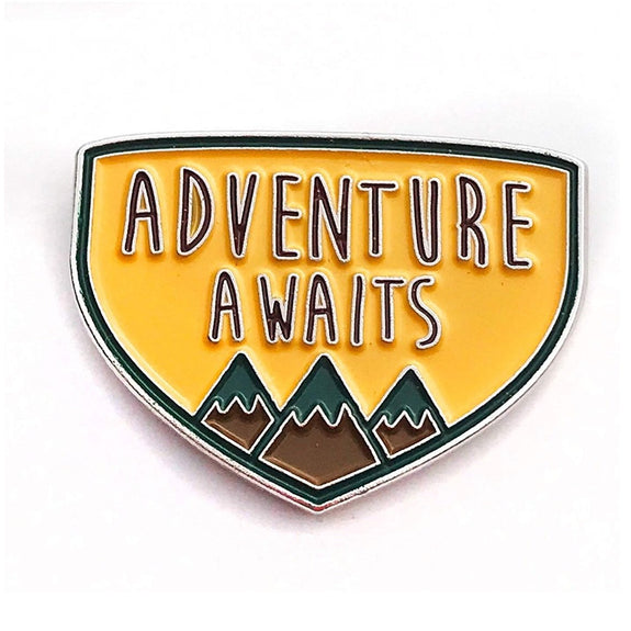 Adventure Enamel Pin - Kläder and Hem