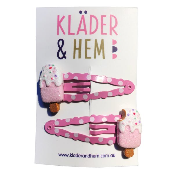 Ice Cream, You Scream Hair Clips - Kläder and Hem