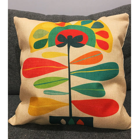 Abstract Sunflower Cushion Cover