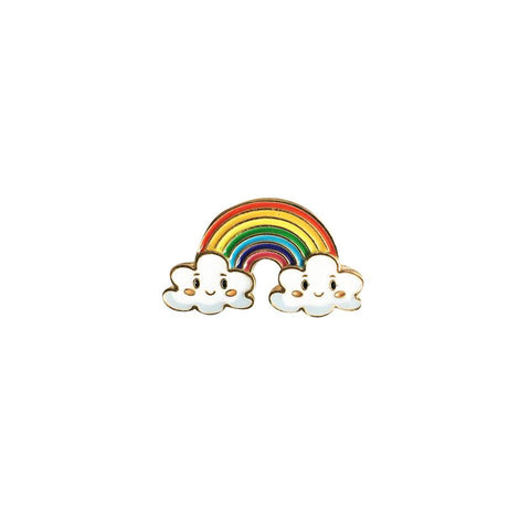 Rainbow On a Cloudy Day Enamel Pin