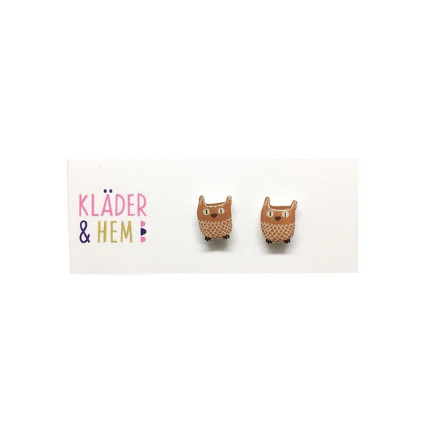 Nordic Owl Stud Earrings - Kläder and Hem