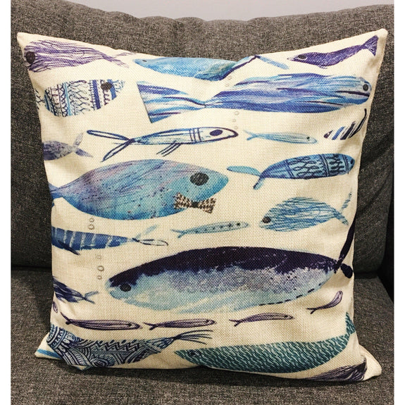 Norwegian Fish Cushion Cover - Kläder and Hem