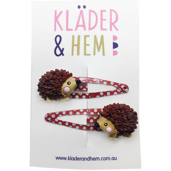 Henry & Agatha Hedgehog Hair Clips - Kläder and Hem