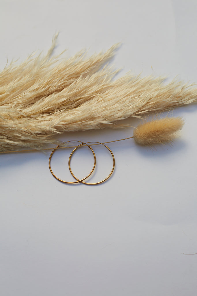 Plain Gold Plated Hoops