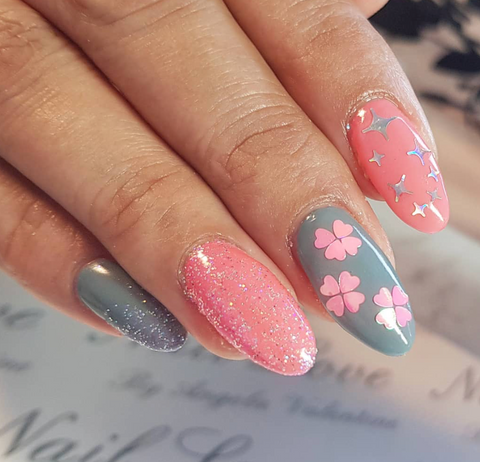 Pink Iridescent Hearts