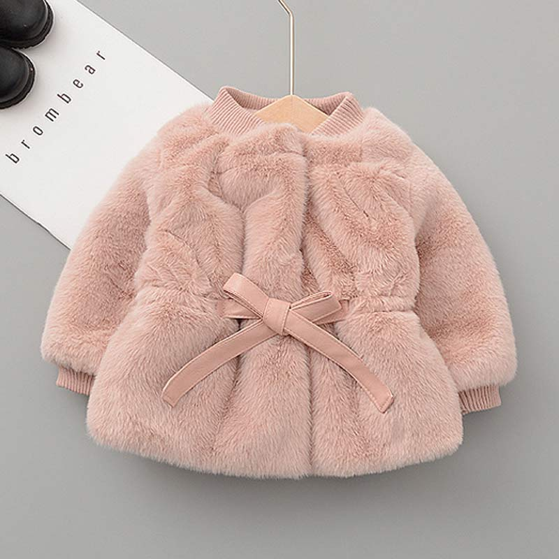 manteau rose enfant