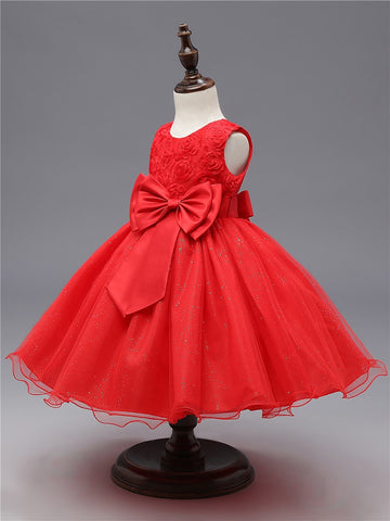 robe bebe princesse rouge