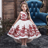 robe fille princesse rouge