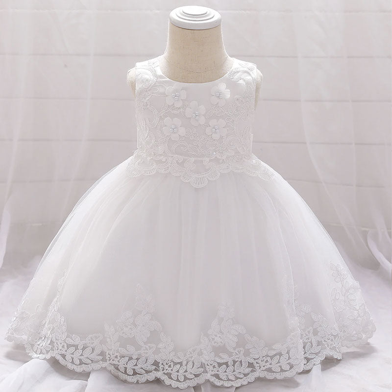 robe de ceremonie bebe fille blanche
