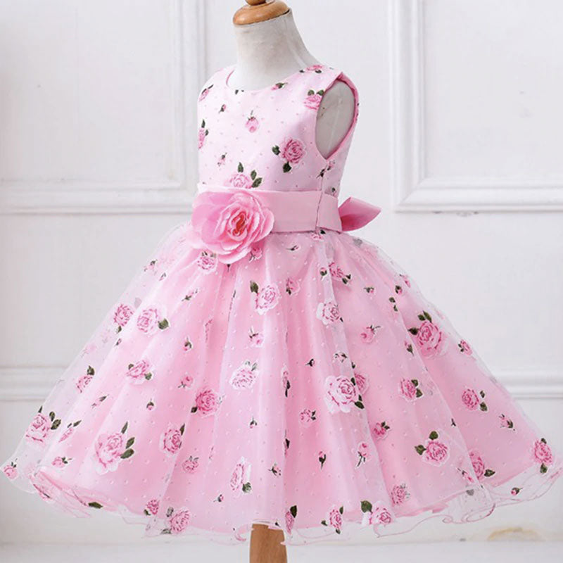 robe rose de princesse fille