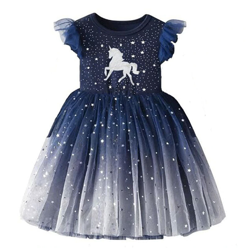 robe licorne fillette