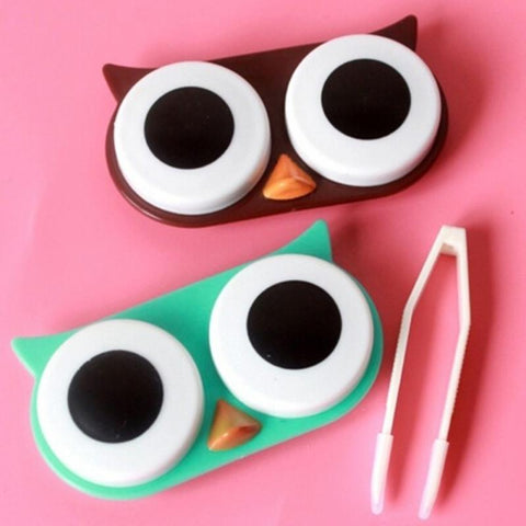 Owl Contact Lens Travel Case