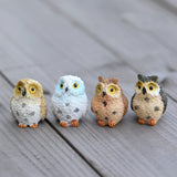 Cute Resin Owls Figurines Miniatures