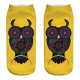 Cartoon Owl Low Cut Ankle Socks