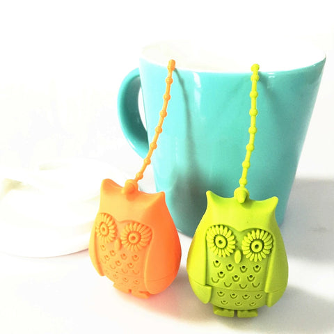 Cute Silicone Owl Tea Strainer / Infuser
