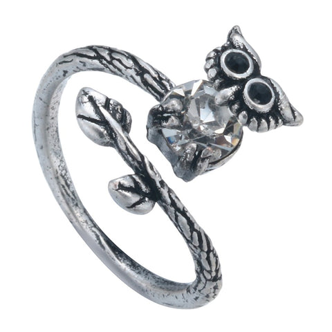 Unique Owl Crystal Ring