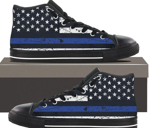 Thin Blue Line - Kids hightop
