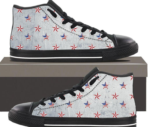 Patriotic Stars - Mens Hightop - AvailableGift.com