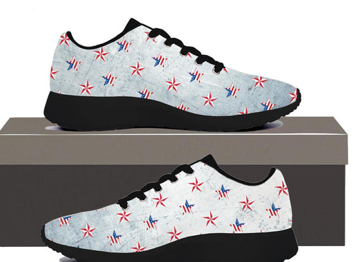 Patriotic Stars - Womens Sneakers - AvailableGift.com