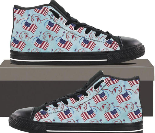 Patriotic Eagle Flag - Mens Hightop - AvailableGift.com
