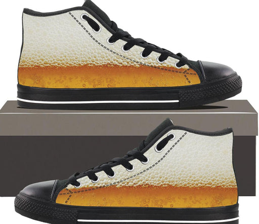 Foaming Beer  - Mens Hightop - AvailableGift.com